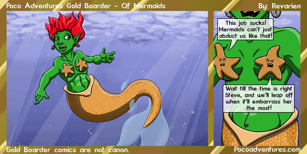 Starfish should unionize against grabby mermaids...