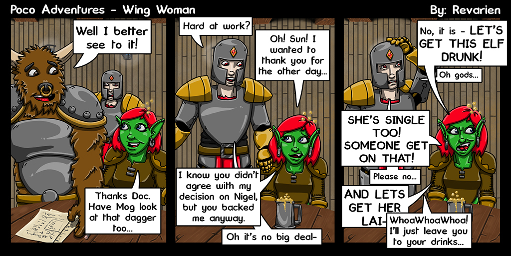 Elven courtship usually has all the finesse taken out of it by that one loudmouth friend...