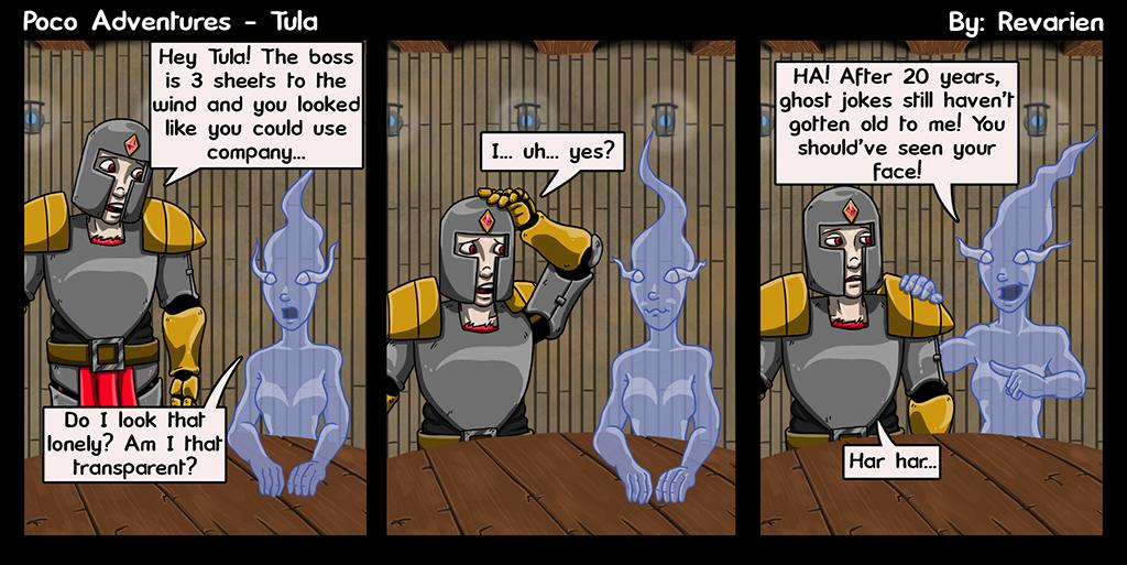 Ghost jokes... on par with dad jokes.