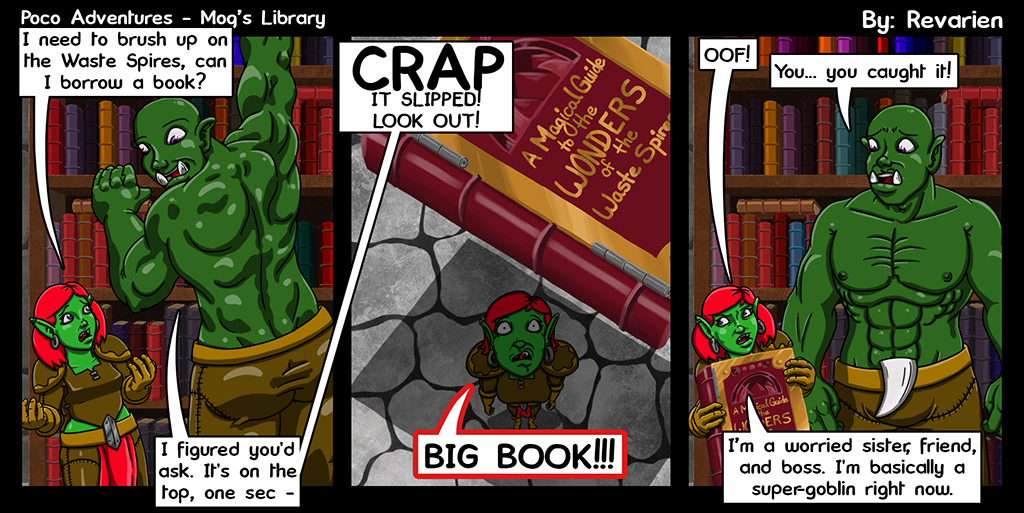 "The book was right next too ""Smallest Book in the World"", ""World's Lightest Book"", ""Easiest to Catch Book"", ""101 Ways to Not Drop Books"", ""The Dangers of Dropped Books"", ""Fancy Cats in Top Hats"" - Poco just got unlucky this one fell."