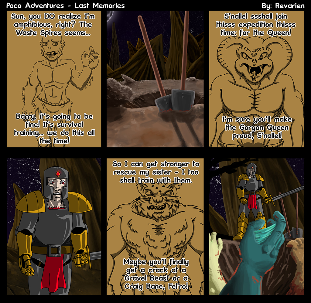 no joke here this time - I designed 3 species and characters just for this comic and pissed me off to kill them after I drew them, lol. 